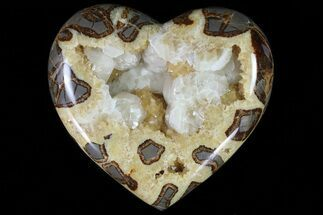 "Buy 7.6"" Wide Polished Utah Septarian Heart - Beautiful Crystals - #79393"