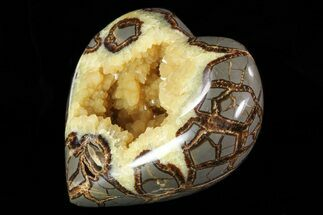 "5"" 3D Polished Utah Septarian Heart - Beautiful Crystals For Sale, #79394"