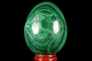 "Stunning, 2.7"" Polished Malachite Egg - Congo For Sale, #78914"