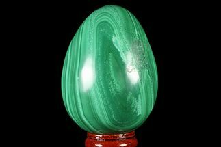 "Buy Stunning, 2.8"" Polished Malachite Egg - Congo - #78925"