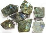 Wholesale Lot: 23 Lbs Free-Standing Polished Labradorite - 15 Pieces - #78029-2