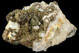 "3.2"" Pyrite On Calcite & Quartz - El Hammam Mine, Morocco - #80355-1"
