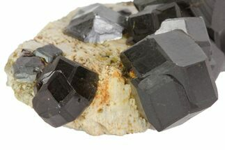 "1.7"" Andradite Garnets On Feldspar - Imilchil, Morocco For Sale, #80504"
