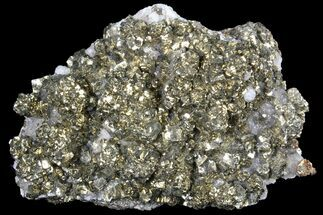 "4.3"" Pyrite On Calcite - El Hammam Mine, Morocco For Sale, #80723"
