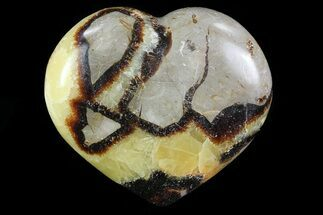 "Buy 3.5"" Polished Septarian ""Heart"" - Madagascar - #82051"