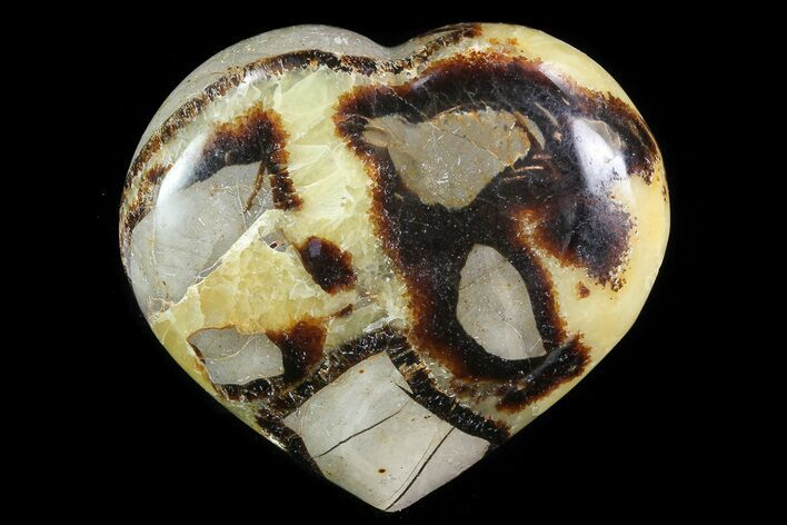 "3.5"" Polished Septarian Heart - Madagascar"