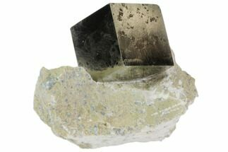 "Buy 1.1"" Natural Pyrite Cube In Rock From Spain - #82090"