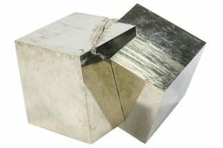 "Buy 2.5"" Natural Twinned Pyrite Cubes From Spain - #82117"