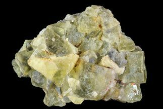 "Buy 3.2"" Yellow/Green Cubic Fluorite Crystal Cluster - Morocco  - #82810"