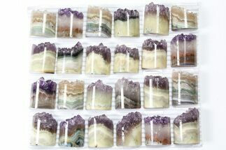 Buy Wholesale Lot: Amethyst Half Cylinder (For Pendants) - 24 Pieces - #83431