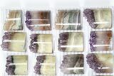 Wholesale Lot: Amethyst Half Cylinder (For Pendants) - 24 Pieces - #83431-2