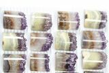 Wholesale Lot: Amethyst Half Cylinder (For Pendants) - 24 Pieces - #83433-1