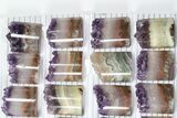 Wholesale Lot: Amethyst Half Cylinder (For Pendants) - 24 Pieces - #83409-2