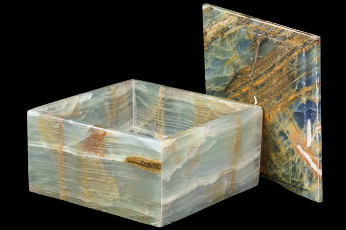 "5.95"" Wide Blue Onyx Jewelry Box"