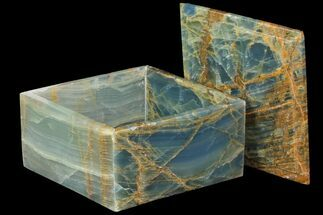 "Buy 5.9"" Wide Blue Calcite Jewelry Box - #84121"