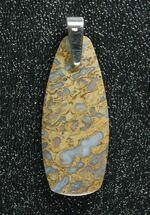 Blue/Green, Agatized Dinosaur Bone (Gembone) Pendant  For Sale, #84757