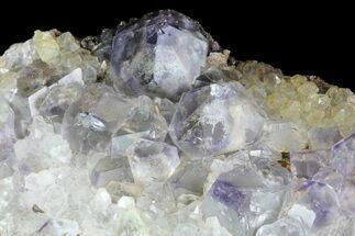 "Buy 2"" Pale Blue Fluorite Crystals with Quartz - China - #84775"