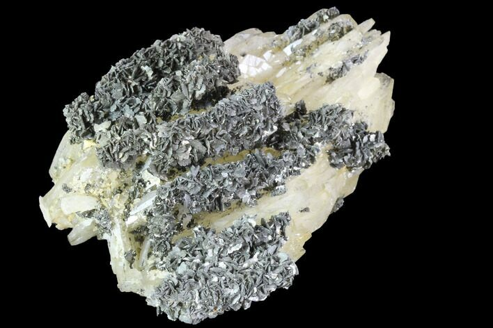 "3.6"" Marcasite Crystals On Bladed Barite - Morocco"