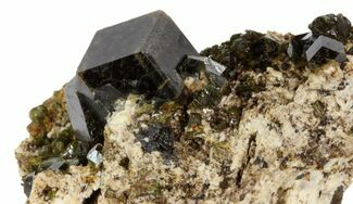 "1.8"" Andradite Garnet With Feldspar Cluster - Imilchil, Morocco For Sale, #80501"