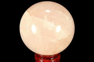 "3.15"" Polished Rose Quartz Sphere - Madagascar For Sale, #87695"