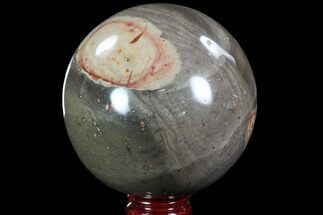 "4.5"" Polished Polychrome Jasper Sphere - Madagascar For Sale, #87704"