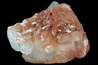 "3.4"" Natural Red Quartz Crystal Cluster - Morocco For Sale, #88913"