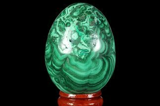 "Stunning 2.05"" Polished Malachite Egg - Congo For Sale, #89648"
