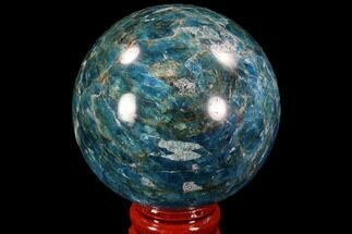 "Buy 2.2"" Bright Blue Apatite Sphere - Madagascar - #90193"