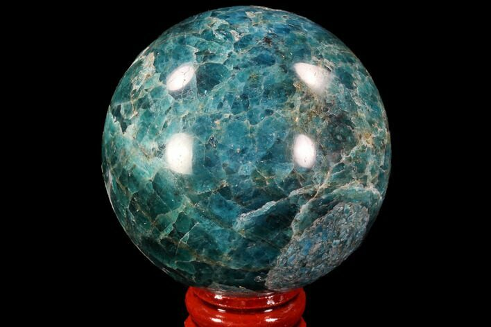 "Bargain, 2.3"" Bright Blue Apatite Sphere - Madagascar"