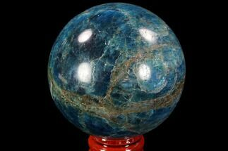 "2.35"" Bright Blue Apatite Sphere - Madagascar For Sale, #90197"