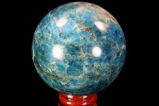 "2.35"" Bright Blue Apatite Sphere - Madagascar For Sale, #90200"