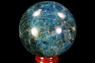 "Buy 2.35"" Bright Blue Apatite Sphere - Madagascar - #90202"