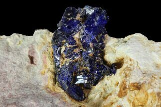 Vibrant Azurite Crystal Cluster in Matrix - Morocco For Sale, #90338