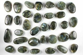 Wholesale Box: Polished Labradorite Pebbles - 1 kg (2.2 lbs) For Sale, #90476