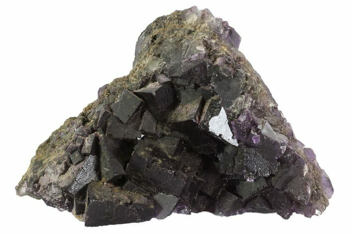 "6.1"" Deep Purple Cubic Fluorite - Cave-In-Rock, Illinois"
