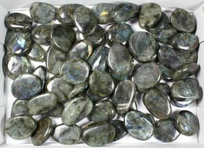Buy Wholesale Box: Polished Labradorite Pebbles - 5 kg (11 lbs) - #90655