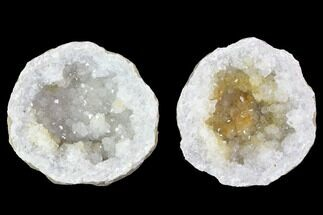 "Buy 2.9"" Keokuk Quartz Geode Pair - Iowa - #91393"