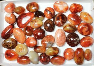 Buy Wholesale Lot: Polished Carnelian Pebbles - 5 kg (11 lbs) - #91444