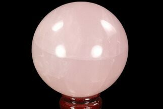 "Buy 3.5"" Polished Rose Quartz Sphere - Madagascar - #92407"