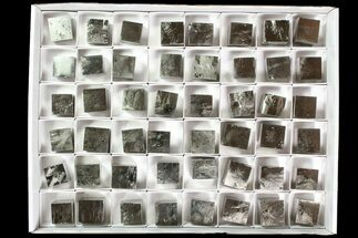 "Wholesale Flat: 1"" Natural, Pyrite Cubes From Spain  - 48 Pieces For Sale, #92558"