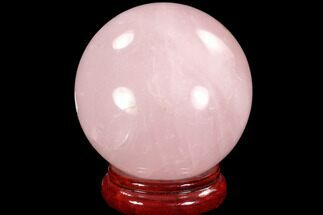 "Buy 4.2"" Polished Rose Quartz Sphere - Madagascar - #93022"