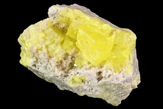 Sulfur & Strontianite - Fossils For Sale - #93648