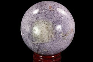 "Buy 3.95"" Sparkly, Purple Lepidolite Sphere - Madagascar - #94081"