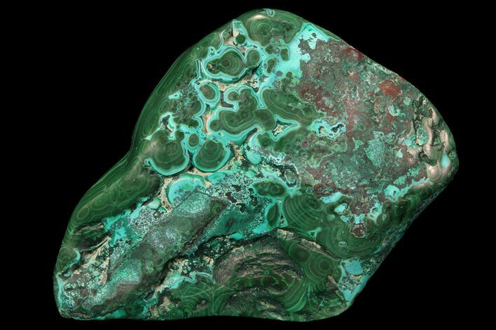 "3.3"" Polished Botryoidal Chrysocolla and Malachite - Congo"
