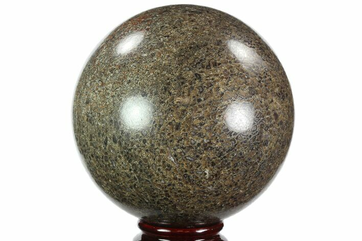 "3.65"" Polished Agatized Dinosaur (Gembone) Sphere - Utah"