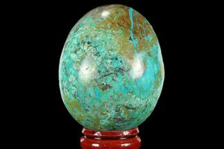 "2.1"" Polished Chrysocolla Egg - Peru For Sale, #95666"