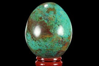 "2.05"" Polished Chrysocolla Egg - Peru For Sale, #95669"