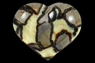 "Buy 6.1"" Heart Shaped, Polished Septarian Dish - Madagascar - #96085"