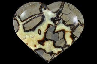 "Buy 7.2"" Heart Shaped, Polished Septarian Dish - Madagascar - #96082"