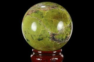 "2.3"" Polished Green Opal Sphere - Madagascar For Sale, #95855"